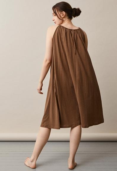 Air halterneck midiklänning - Hazelnut - One size (2) - Gravidklänning / Amningsklänning