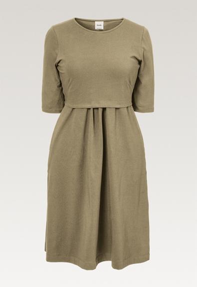 Linnea dress - Trench coat - L (5) - Maternity dress / Nursing dress