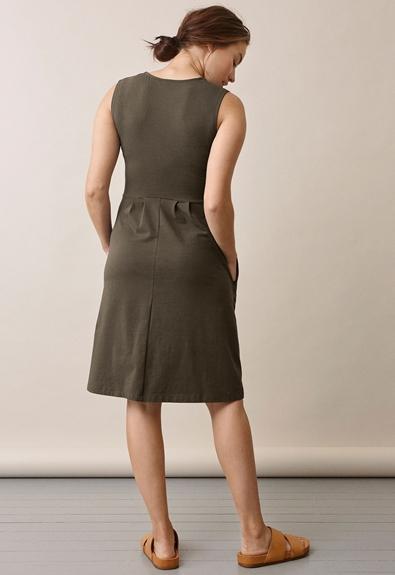 Tilda Kleid - Pine green - M (2) - Umstandskleid / Stillkleid