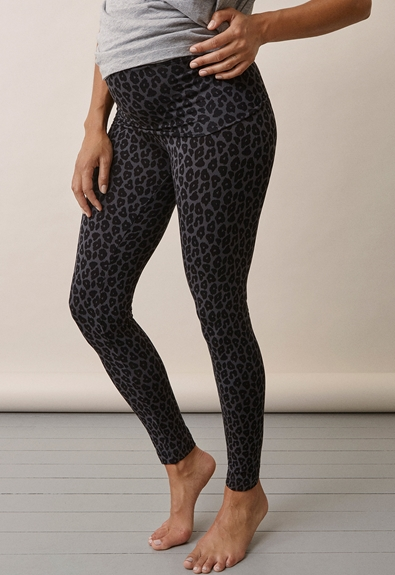 Once-on-never-off leggings Leo print grey/black - XL (2) - Maternity pants