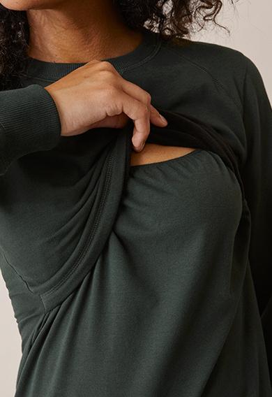 B Warmer sweatshirtdeep green (3) - Umstandsshirt / Stillshirt