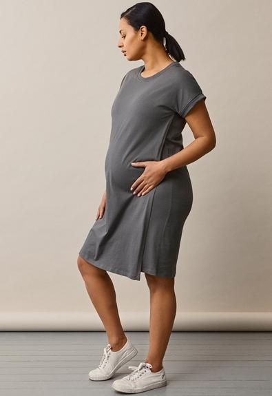 The-shirt dress - Willow green - L (2) - Maternity dress / Nursing dress