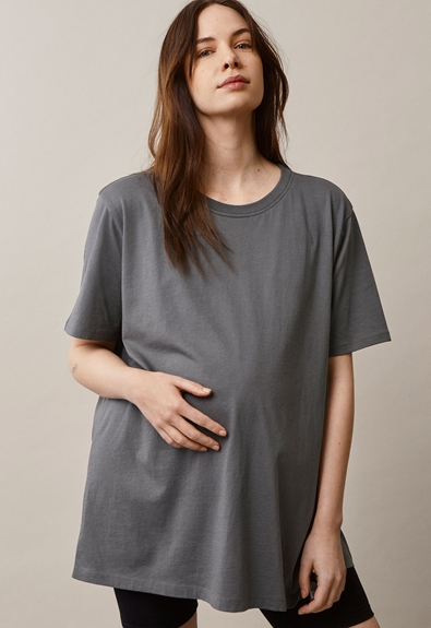 Oversized The-shirt - Willow green - M/L (3) - Maternity top / Nursing top