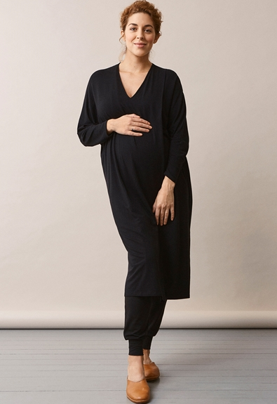 Debbie dress - Black - L/XL (1) - Maternity dress / Nursing dress