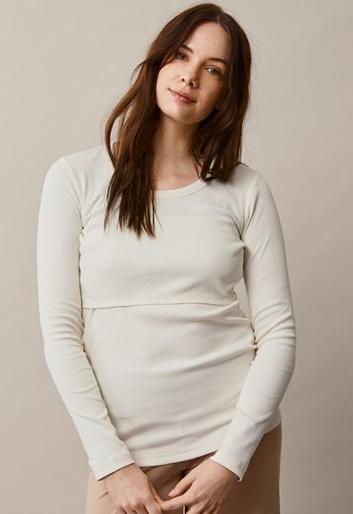 Signe long-sleeved top - Tofu - L (2) - Maternity top / Nursing top