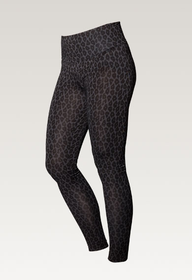Once-on-never-off leggings Leo print grey/black - XL (6) - Maternity pants