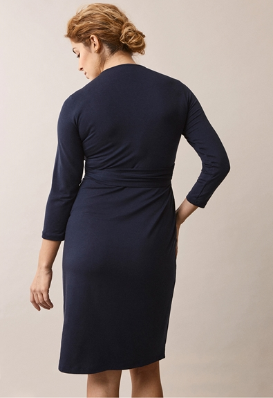 Giselle wrap dress - Midnight blue - M (3) - Maternity dress / Nursing dress