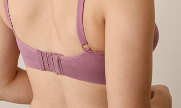 Fast Food Bra - Organic Cotton, Rainy rose S