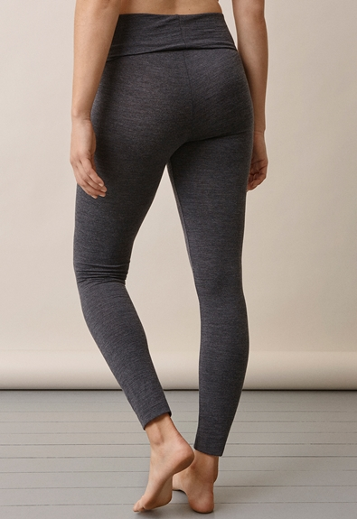 Once-on-never-off leggings i merinoull - L (4) - Gravidbyxor