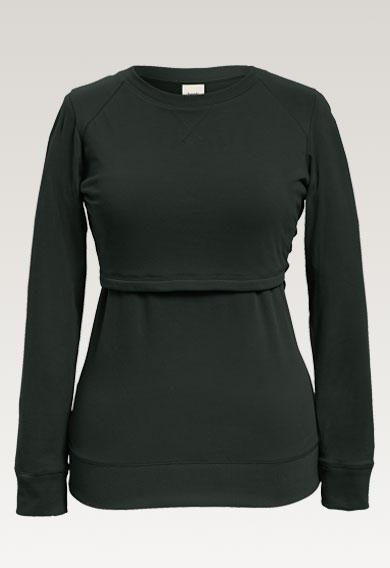 B Warmer sweatshirtdeep green (4) - Gravidtopp / Amningstopp