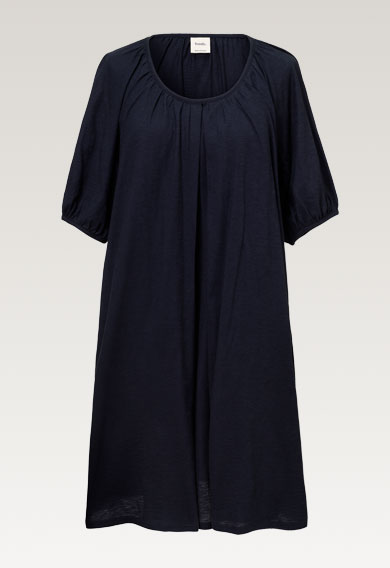Air s/s dressmidnight blue (6) - Maternity dress / Nursing dress
