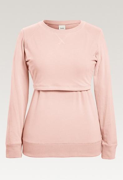 B Warmer sweatshirt - Light pink - L (6) - Gravidtopp / Amningstopp