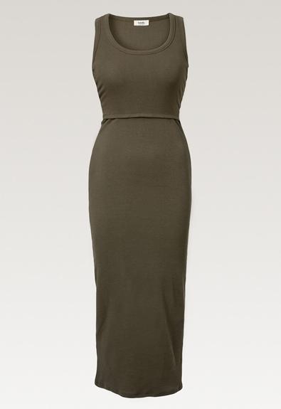 Signe sleeveless dress - Pine green - S (5) - Maternity dress / Nursing dress