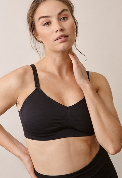 Fast Food T-shirt bra , Black M (1) - Maternity underwear / Nursing underwear