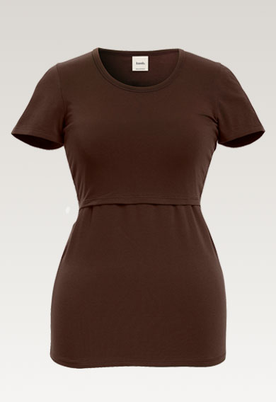 Classic s/s tophard wood (4) - Maternity top / Nursing top