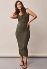 Signe sleeveless dress - Pine green - S - small (4)