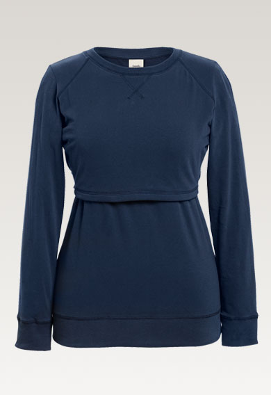 B Warmer sweatshirtthunder blue (4) - Maternity top / Nursing top
