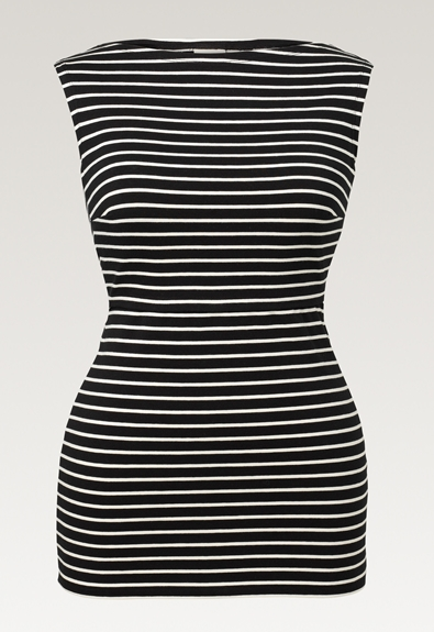 Simone Top - Black/Tofu - XS (6) - Umstandsshirt / Stillshirt