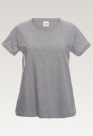 The-shirt, grey melange M (7) - Umstandsshirt / Stillshirt
