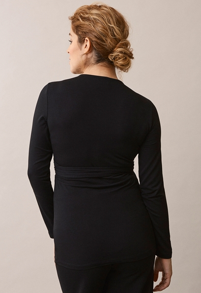 Giselle wrap top - Black - M (3) - Outlet 50