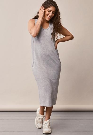 BFF klänning - Grey melange - S (2) - Gravidklänning / Amningsklänning