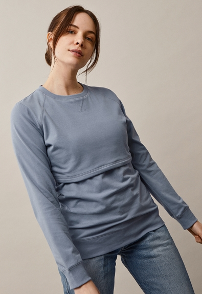 B Warmer sweatshirt - Blue ash - L (1) - Gravidtopp / Amningstopp