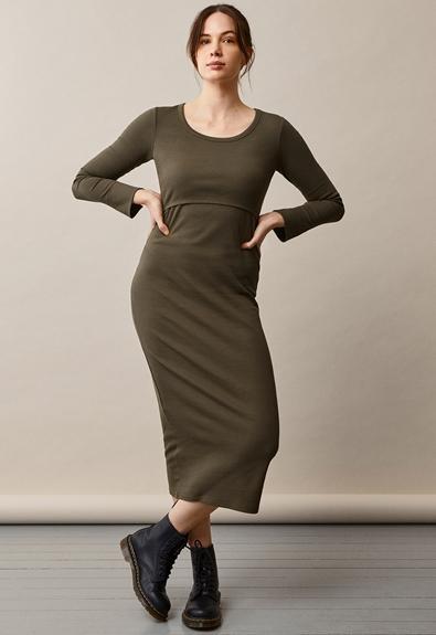 Signe Kleid - Pine green - S (1) - Umstandskleid / Stillkleid