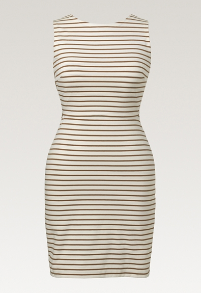 Simone ärmlös klänning - Tofu/Hazelnut - M (6) - Gravidklänning / Amningsklänning