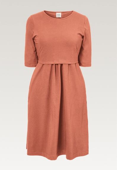 Linnea dress - Canyon clay - L (5) - Maternity dress / Nursing dress